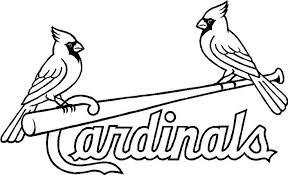 Louis Cardinals Coloring Pages Patterns Pinterest
