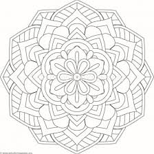 Flower Mandala Coloring Pages 238