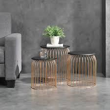 furniture en casa metallkorb beistelltisch couchtisch