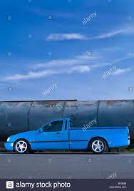 100 Slammed Truck Blue Ford Sierra Pickup Truck Ute Slammed Modified Stock Photo