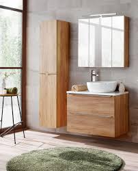 badmöbel set 5 tlg badezimmerset perugia eiche inkl waschbecken 60cm