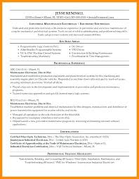 Resume Examples Electrician Sample For Electrical Technician Example Contractor