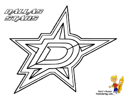 Coloring Free Template Hockey Logo Pages