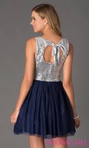 silver sequin blue cocktail dress blue dress promgirl