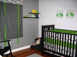 Baby Nursery Modern Room Decor With Black Cribs Decorated Then