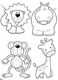 Color In Animals Clip Art On Printable Coloring Pages Pictures Of To For Children