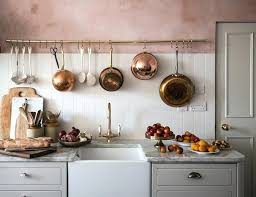 Pink Kitchen Grey And With Copper Accents By Jersey Ice Cream Co Via Coco