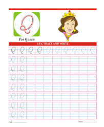 Capital Cursive Letters Q Printable Coloring Worksheet