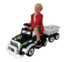Shop Mack Truck W/ Trailer Battery Operated Ride-On - Free Shipping ... Little Riderz 12 V Kids Camo Ride On Truck With Mp3 Led Lights Shop Costway 12v Jeep Car Rc Remote Control W Amazoncom Mega Bloks Cat 3 In 1 On Dump Toys Games Tonka Mighty Electric Australian Toy Kid Trax Red Fire Engine Rideon Tonka Ride On Mighty Dump Truck For Kids Youtube Power Wheels Ford Lil F150 6volt Operated Buy Tikes Spray Rescue Online Pink And Purple Princess Cozy Foot To Floor Bloks In Push Along Sitride Toy