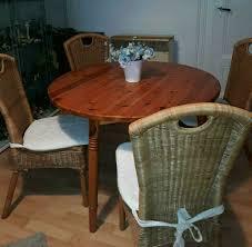 eßzimmer sitzgruppe rattan stühle tisch