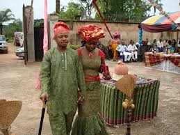 Bride and groom at Igba Nkwu ceremony