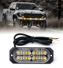 100 Strobe Light For Trucks 1pc Amber 4W LED Side Marker Xprite