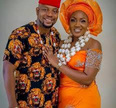 igbo traditional wedding couple