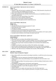 Download Heavy Equipment Mechanic Resume Sample As Image File