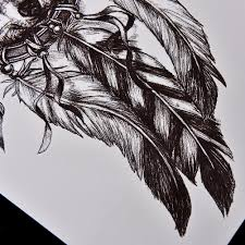 1pc Sketch Black Tattoo Sticker Women Men 3D Body Art Wolf Dreamcatcher Indian Feather Flower Arm Temporary In Tattoos From Beauty