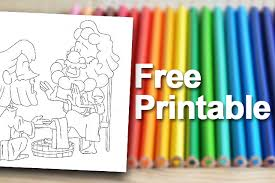Free Printable Jesus Washes The Disciples Feet Coloring Page