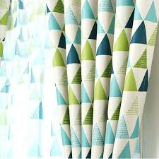 Navy Geometric Pattern Curtains by Blue Geometric Curtains Modern Brief Blackout Green And Blue