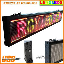 Colorful Led Display Red Green Yellow Programmable Scrolling Message Sign Board For Business