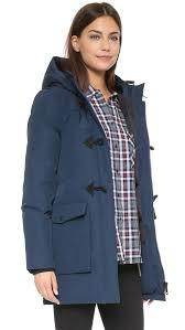 penfield kelsey down fill duffle jacket in blue lyst