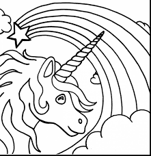 Outstanding Printable Unicorn Coloring Pages For Kids With Color Free And