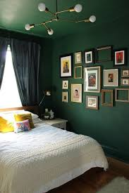 Love The Dark Green Walls To Ceiling