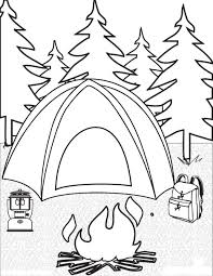 Camping Coloring Pages For Childrens Printable Free At Preschoolers
