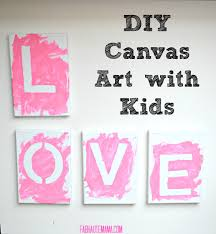Dark Kids Diy Canvas Art And Easy Steps Fab Love Also In