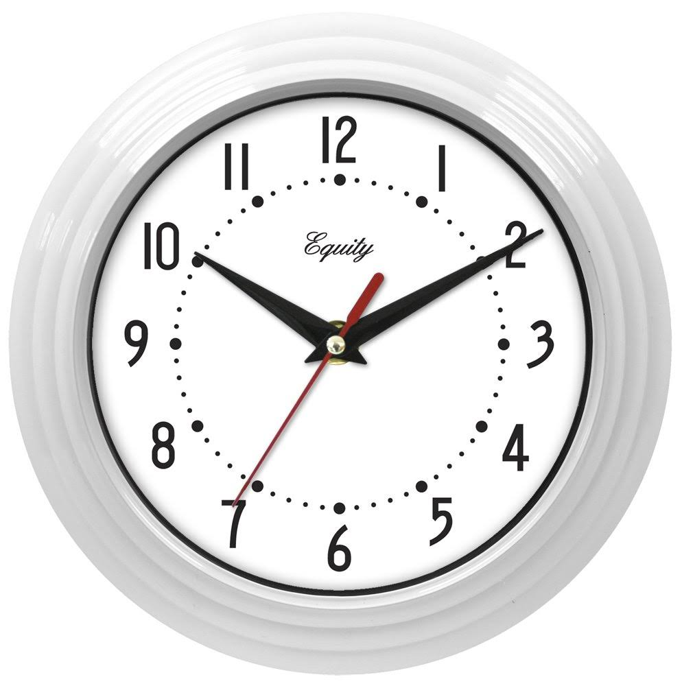 La Crosse Equity Round Quartz Wall Clock - White, 8.5""