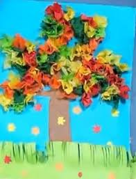 Fall Craft For Kids How To Make A Tissue Paper Tree