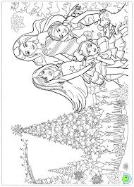Barbie Christmas Carol Coloring Pages