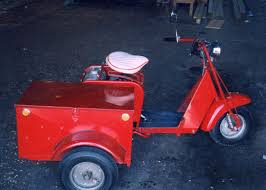 Allstate Cushman Scotter And Side Car