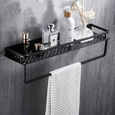 schwarz badezimmer regal raum aluminium dusche korb ecke