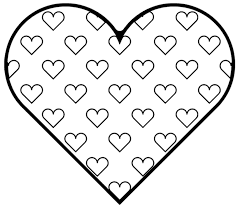Coloring Download Small Heart Pages Hearts Shape For Kids Womanmate Line Drawings