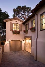 Window Flower Boxes With Traditional Doorbell Buttons Exterior Mediterranean And Stucco