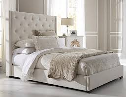 Amazon Queen Size Upholstered Bed Wingback Button Tufted