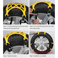 Car Snow Chains Anti Slip Tire 8 Nails Chains Tire Emergency Winter ...