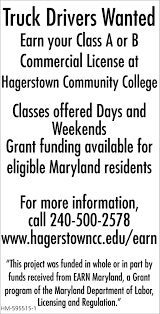 100 Truck Drivers Wanted Hagerstown Community College Hagerstown MD