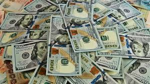 Cash Money Background Close up Rotation 100 US Dollars The Top