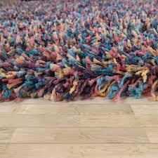 details zu hochflor teppich wohnzimmer shaggy in multicolor bunt langer weicher flor