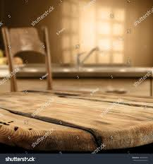 Room Kitchen Table Chair Dark Brown Stock Photo (Edit Now ...