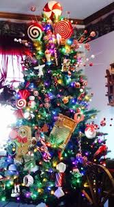 multi colored light tree with the traditional