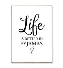 din a4 kunstdruck poster pyjamas ungerahmt typografie