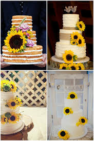 Sunflower Wedding Cakes Amazing Cake Ideas With Interesting Rustic