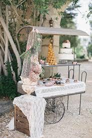 Outdoor Country Wedding Dessert Table Ideas