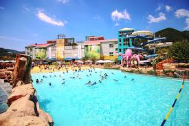 Spa Valley Is The Biggest Water Park In Daegu And Surrounding Provinces It Shows Off Coolest Thrill Rides Including Speed Slide Which Asias Highest