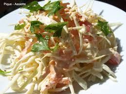 cuisiner le chou blanc en salade choux blanc mayonnaise pique assiette