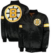 Boston Bruins Starter Classic Retro Satin Full Snap Jacket