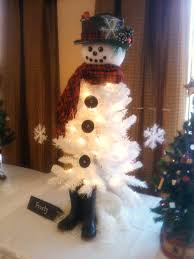 65 Ft Christmas Tree by White Snowman Xmas Tree 1808