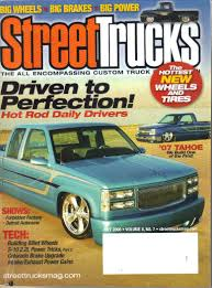 Buy Streettrucks (Street Trucks) Magazine, Vol. 8, No. 7 (July, 2006 ... Featured Article Custom Classic Trucks Magazine February 2012 7dfvd By Jddfvrr Issuu Street Parts Accsories Lowrider In 891990 Hot Wheels 100 Petersens Series 56 Chevy Truck Xtreme Limited 2003 Silverado 2500 8 Wallpaper Lowered Lifted Randall Reilly Publishing Rigs Terry Akunas Ford Pick Up 1940 Ford Pickup A Different Point Of View Hot Rod Revealed Three Fseries Coming To Sema Motor Trend 1941 Chevy Pickup Truck Custom Youtube Dodge Ram Elegant 2007 Trx4