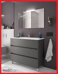 details zu badmöbel set montiert 100 cm waschtisch badezimmermöbel mit spiegel grau modern